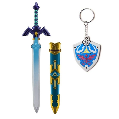 HOBBY COMBO: Legend of Zelda Skyward Sword: Косплей аксесоар - Link´s Master Sword + Legend of zelda Ключодържател + Подарък