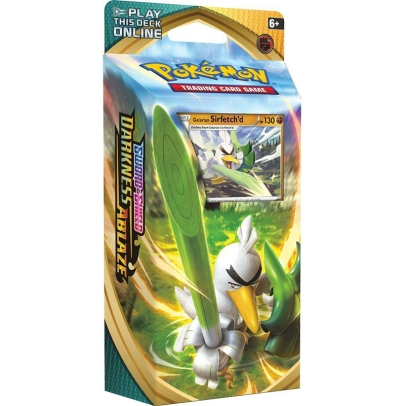 Pokemon TCG Sword and Shield -  Darkness Ablaze Тесте - Galarian Sirfetch'd