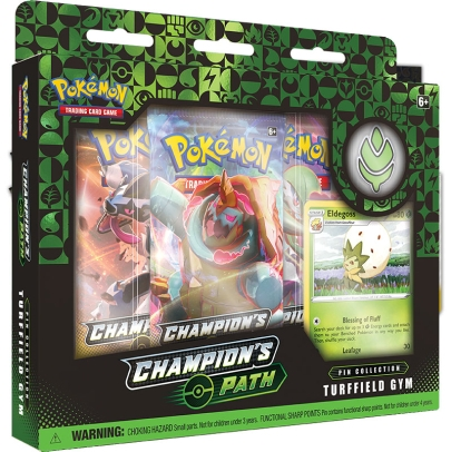 Pokémon TCG Sword & Shield 3.5 Champions Path Pin Collection - Turffield Gym