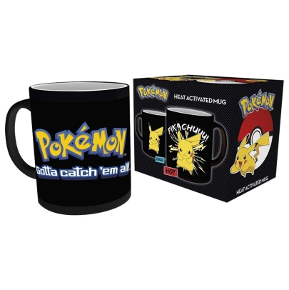 Pokemon Heat Change Mug - Pikachu Gotta Catch Them All