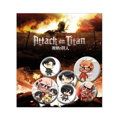 Attack on Titan - Комплект Значки