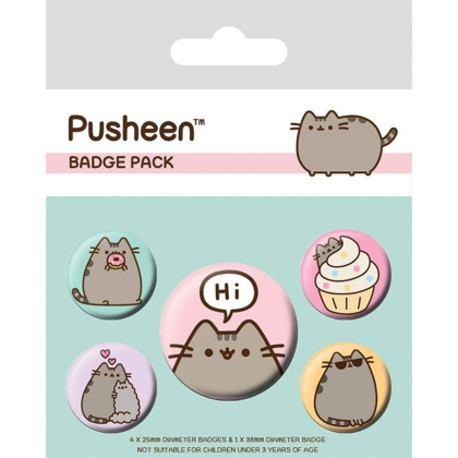 Pusheen the cat - Комплект Значки