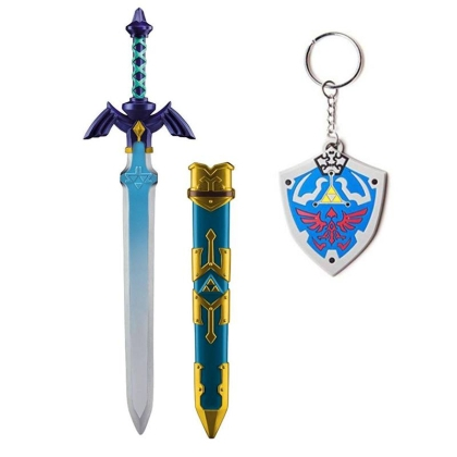 HOBBY COMBO: Legend of Zelda Skyward Sword: Косплей аксесоар - Link´s Master Sword + Lgend of zelda Ключодържател + Подарък