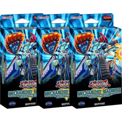 HOBBY COMBO: 3 X Yu-Gi-Oh! TCG Mechanized Madness Structure Deck - Тесте