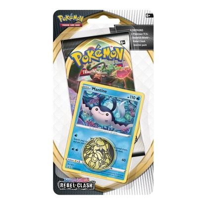 Pokemon TCG Sword & Shield 02 - Rebel Clash - Checklane Blister Display