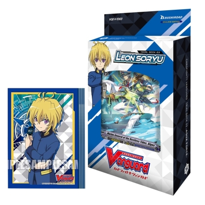 HOBBY COMBO: Cardfight!! Vanguard Тесте за игра Aqua Force + Протектори за карти 70 броя - Leon Soryu