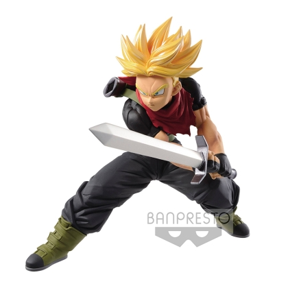 Super Dragon Ball Heroes Transcendence Art PVC Statue Super Saiyan Trunks Future 14 cm