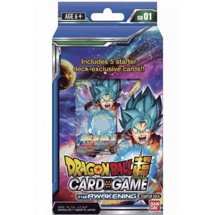 HOBBY COMBO:  DRAGON BALL SUPER CARD GAME Стартово Тесте 01 ~ The Awakening + Playmat + туба