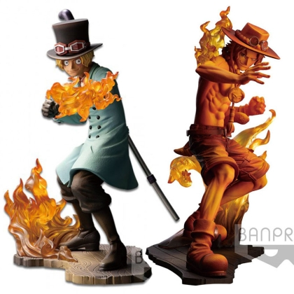 HOBBY COMBO: One Piece Stampede Posing Series PVC Statue Sabo 15 cm + Ace Stampede