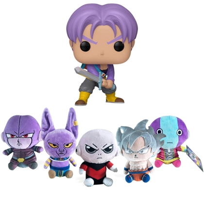 HOBBY COMBO: Dragon Ball Super Plush Figures + Funko POP Future Trunks