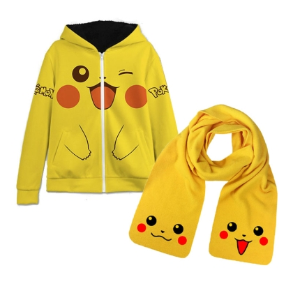 HOBBY COMBO: Pokemon: Warm winter Hoodie - Pikachu + Scarf