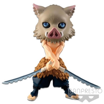 Demon Slayer Kimetsu no Yaiba Q Posket Petit Mini Figure Inosuke Hashibira Vol. 2 7 cm