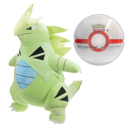 "HOBBY COMBO: Pokemon: Plush Toy - Tyranitar+"" Pokemon TCG "" Poké Ball Tin 2019"