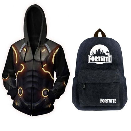 HOBBY COMBO: Fortnite School Backpack + Hoodie Dark Voyager