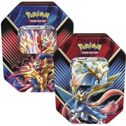 HOBBY COMBO: Legends of Galar Tin - Zamazenta V + Zacian V