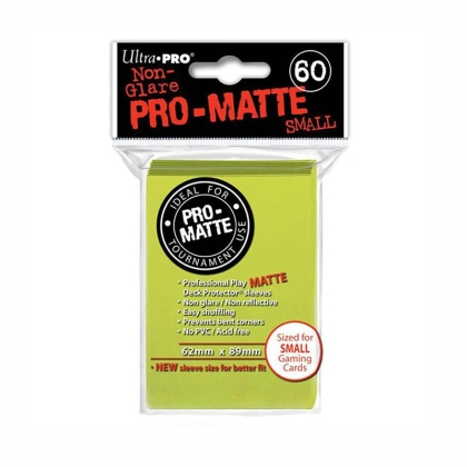""" Ultra Pro "" MATTE Sleeves 60pc bright yellow"