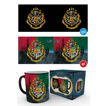 Harry Potter Heat Change Mug - Hogwarts Crest