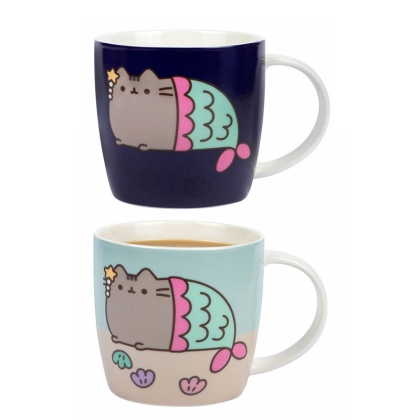 Pusheen Heat Change Mug - Pusheen Mermaid