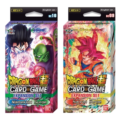 HOBBY COMBO: Dragon Ball Super Card Game: Expansion - Saiyan Surge- + -Namekian Surge-