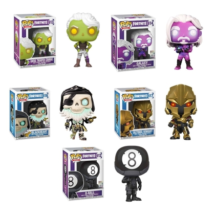 HOBBY COMBO: Fortnite Funko POP Колекционерски Фигурки - Ghoul Trooper, Galaxy, Blackheart, Ultima Knight & 8 Ball