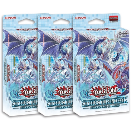 HOBBY COMBO: 3X Yu-Gi-Oh! TCG Freezing Chains Structure Deck - Тесте