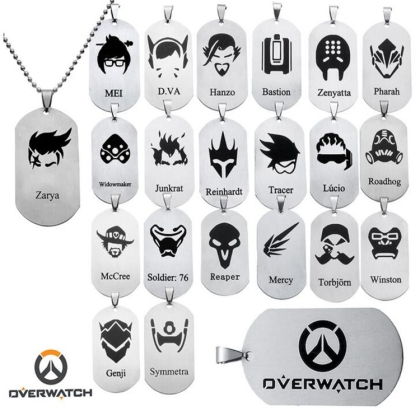 """ Overwatch "" Metal Necklace - Symmetra"