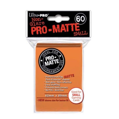 """ Ultra Pro "" MATTE Sleeves 60pc orange"