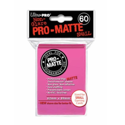 """ Ultra Pro "" MATTE Sleeves 60pc pink"