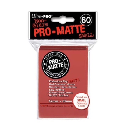 """ Ultra Pro "" MATTE Sleeves 60pc red"
