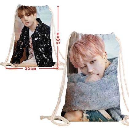 """ BTS "" Canvas Bag - Backpack two-sided - Jimin & Jungkook"