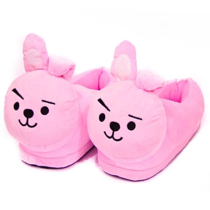 """ BTS "" Plush Slippers  - Cooky"