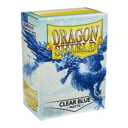 """ Dragon Shield "" Standart Card Sleeves 100pc Matte - Clear Blue"