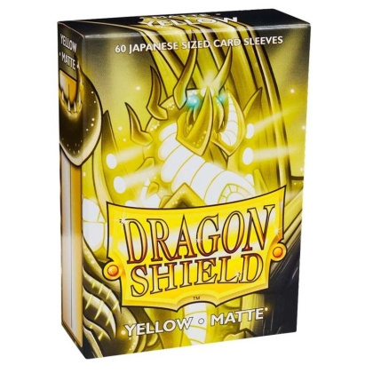 """ Dragon Shield "" Small Card Sleeves 60pc Matte - Yellow"