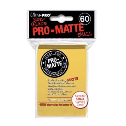 """ Ultra Pro "" MATTE Sleeves 60pc yellow"
