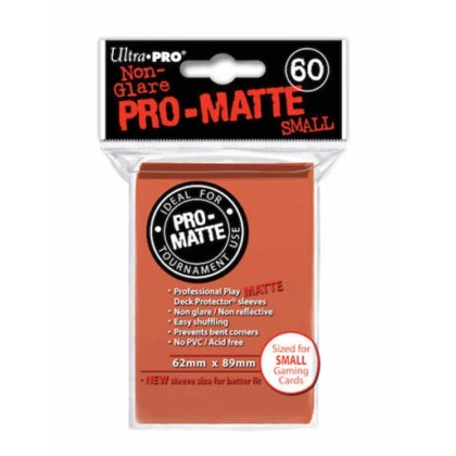 """ Ultra Pro "" MATTE Sleeves 60pc peach"