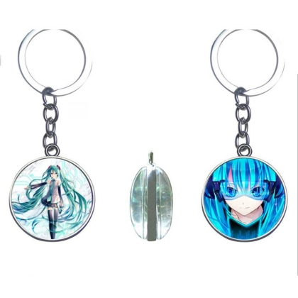 """ Vocaloid "" Two-Sided Keychain - Hatsune Miku"