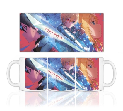 """ Sword Art Online: Alicization "" Coffee Mug - Eugeo,Kirito,Alice"