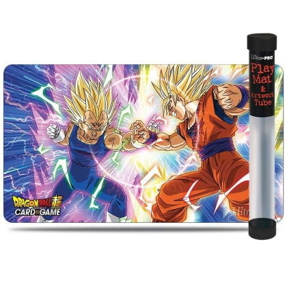 """ Dragon Ball Super Card Game "" Playmat + Tube - Vegeta vs Goku"