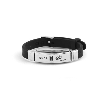 BTS Bracelet with signature  -  Suga